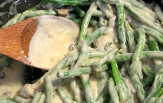 Стручковая фасоль в йогуртовом соусе