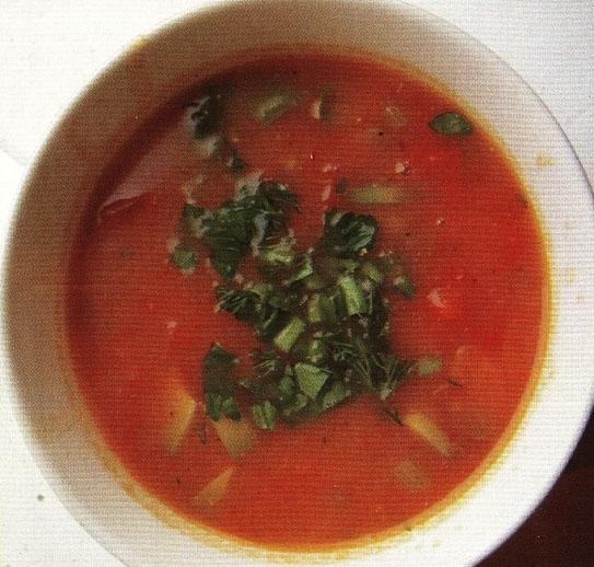 Томатный суп с авокадо (гаспачо)