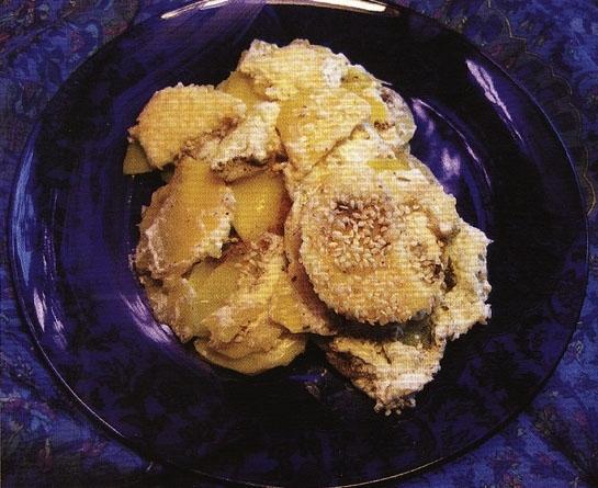 Картофель, запеченный со сметаной