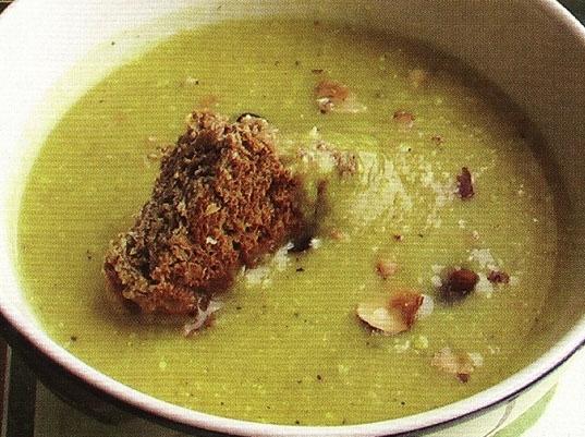 Тыквенный суп с ржаным хлебом