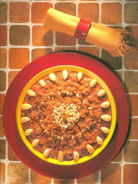 Гаджрела (морковно-молочный пудинг)