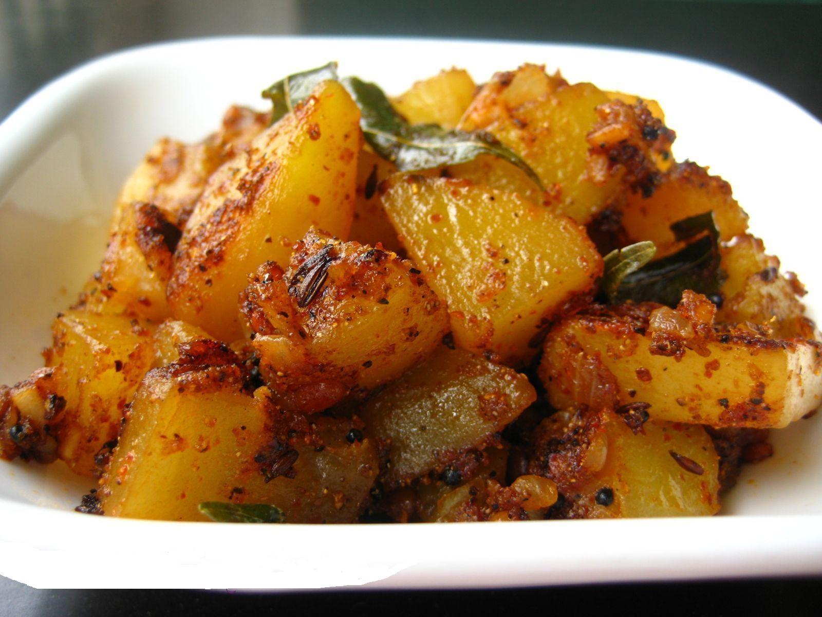 Быстрый картофель карри