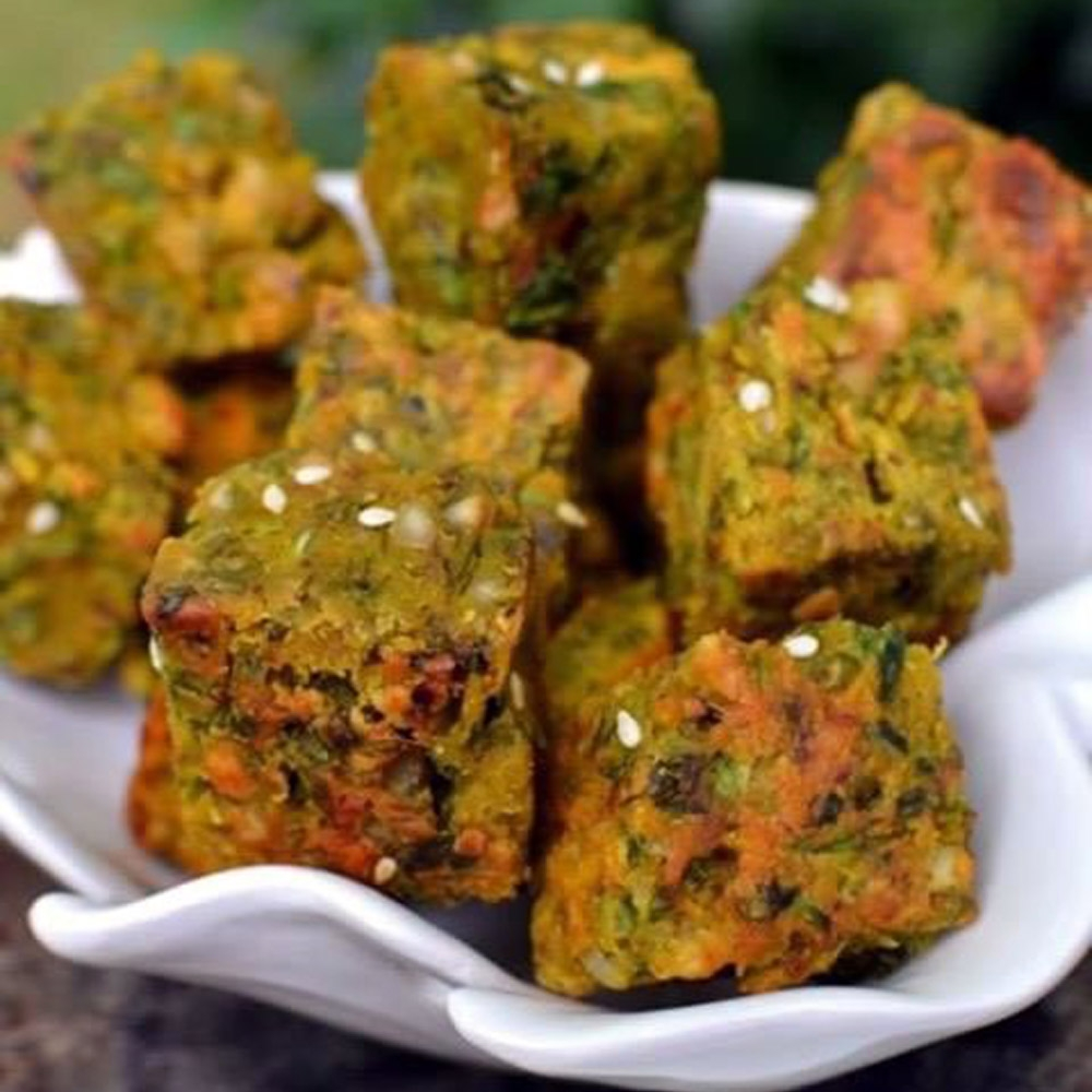 Катмир вада - Печенье из нутовой муки и кориандра