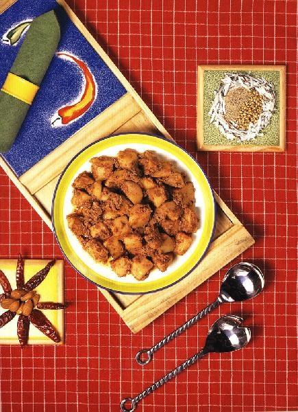 Алу Корма (картофельное карри с миндалем)