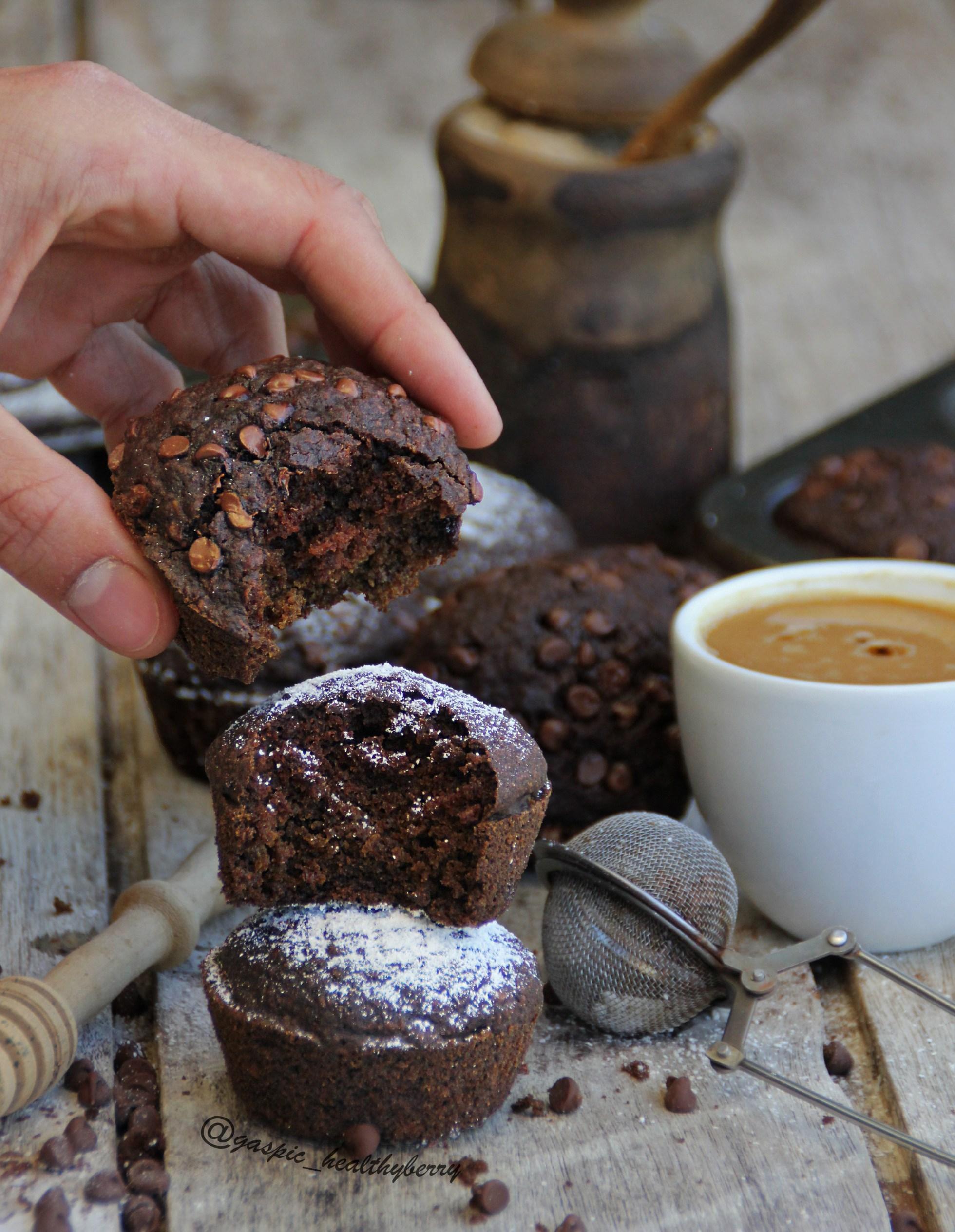 Маффины с кофе, кэробом и корицей