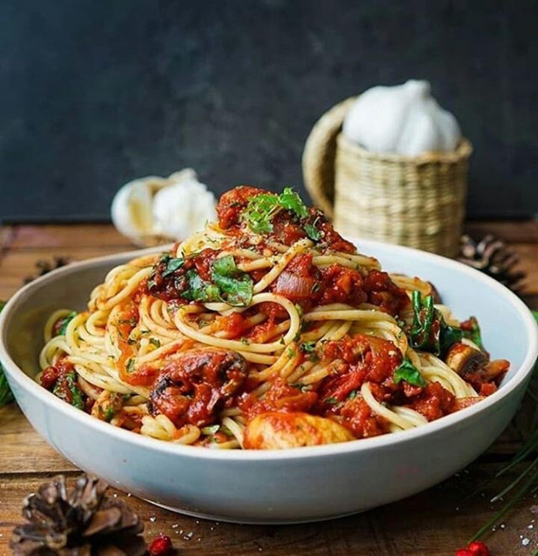 Веганские спагетти