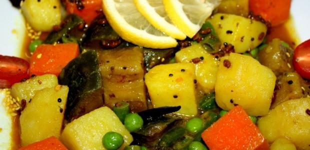 Бенгали таркари - Тушеные овощи по-бенгальски